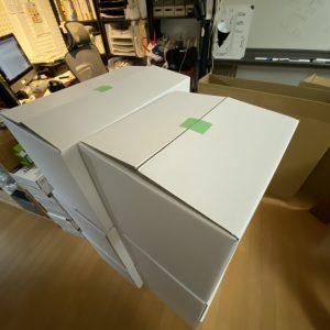 「離島引越し便」専用ダンボール試作中